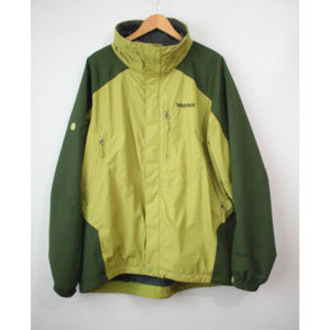 marmot mens green gore-tex shell jacket XL